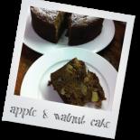 Quick Apple & Walnut Cake